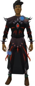 Augmented robes of subjugation equipped (male).png: Augmented garb of subjugation equipped by a player