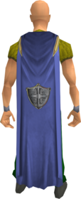 Defence cape equipped.png: Defence cape equipped by a player