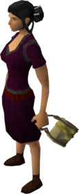 Gold satchel equipped.png: Gold satchel equipped by a player