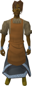 Brown apron equipped (male).png: Brown apron equipped by a player