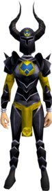 Black armour (h3) (heavy) equipped (female).png: Black helm (h3) equipped by a player