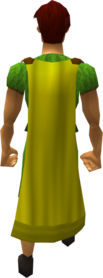 Cape (yellow) equipped (male).png: Cape (yellow) equipped by a player