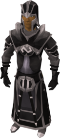 Elite void knight armour (executioner) equipped (male).png: Elite void knight robe (executioner) equipped by a player