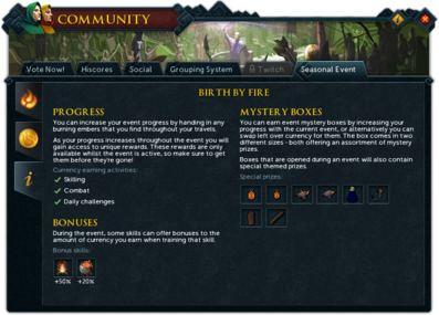 Community (Birth by Fire) interface information.png