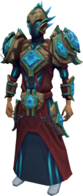 Elite tectonic armour equipped.png: Elite tectonic mask equipped by a player