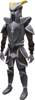 A player wearing Fractite armour.