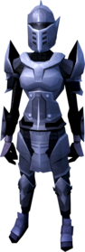 Mithril armour (heavy) equipped (female).png: Mithril platebody equipped by a player